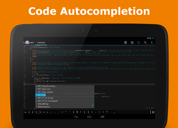 AWD Android Code Editors