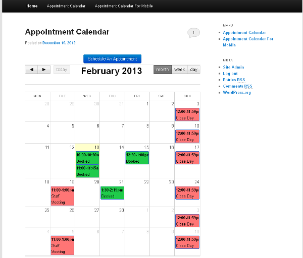 appointment and booking plugins