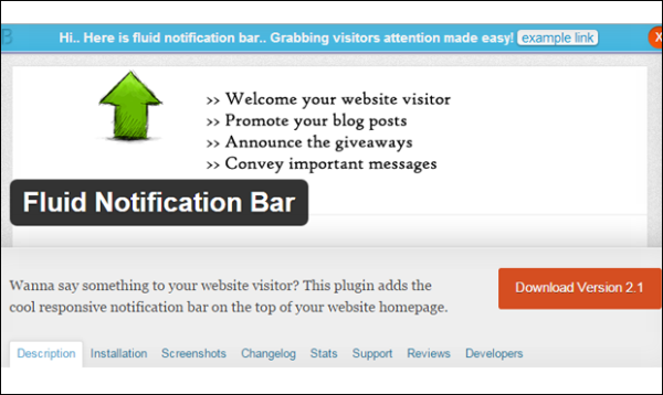 notification bar plugins