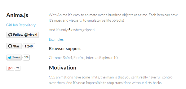 Anima — CSS animations with a soul
