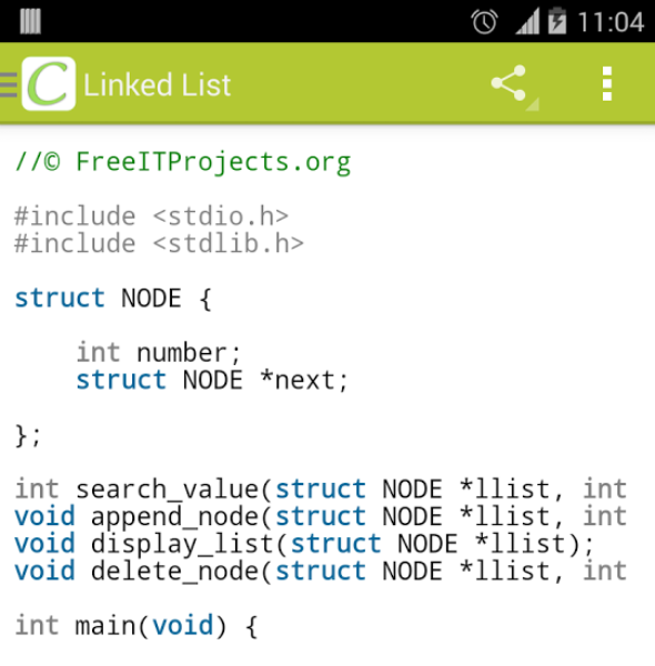 Mobile C Android Code Editors