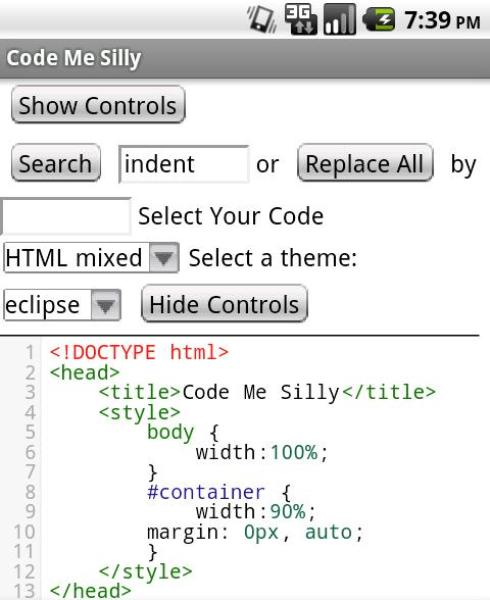 Syntax Highlighted Code Editor