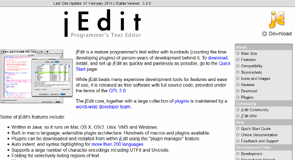 jEdit - Programmer's Text Editor