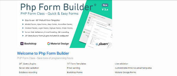 PHP Form Builder Scripts for Developers
